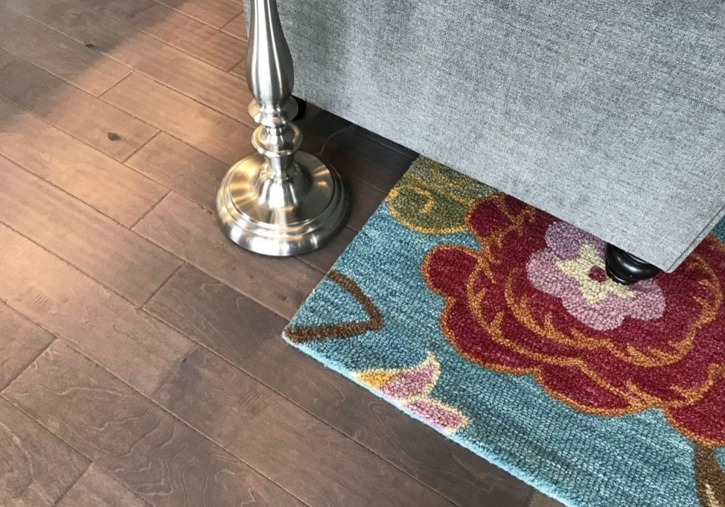 Gorgeous and easy to clean floors in the main room