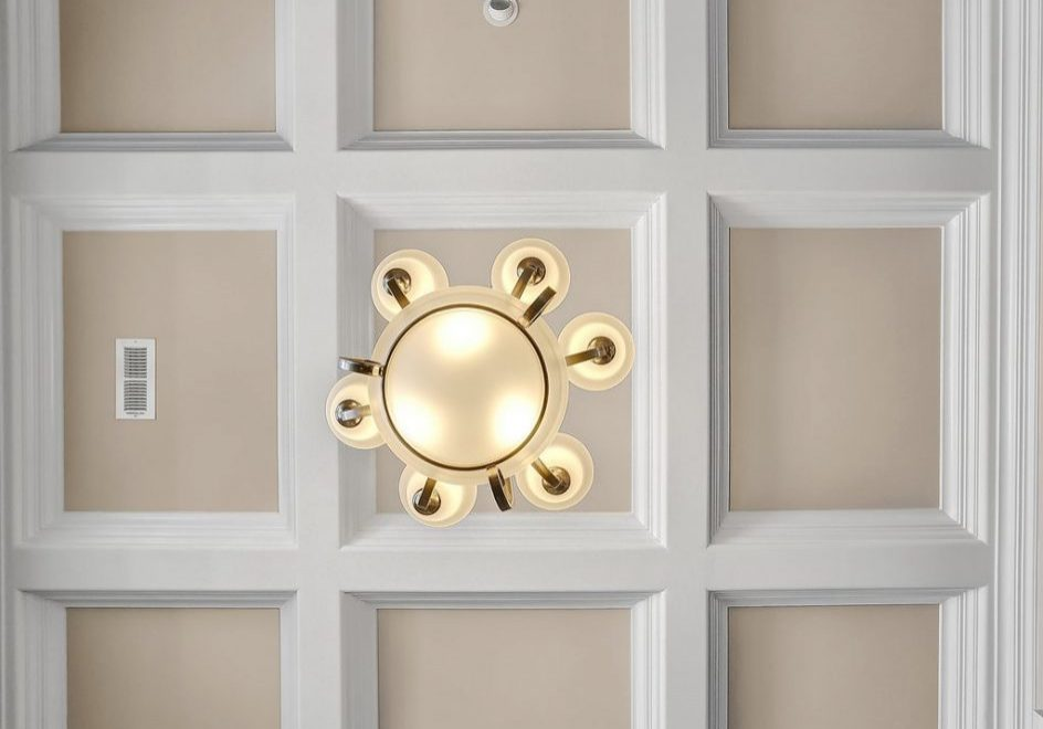 I was in love with the coffered ceiling